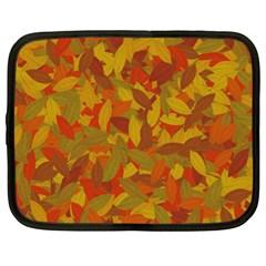Orange autumn Netbook Case (XL)