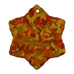 Orange Autumn Snowflake Ornament (two Sides)