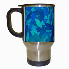 Blue autumn Travel Mugs (White)