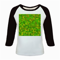 Green autumn Kids Baseball Jerseys
