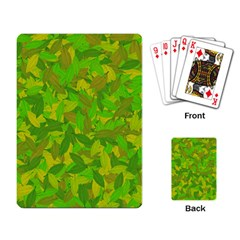 Green autumn Playing Card