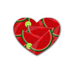 Watermelon slices Heart Coaster (4 pack)