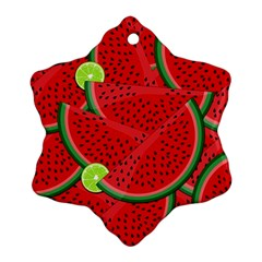 Watermelon Slices Snowflake Ornament (two Sides)