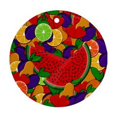 Summer fruits Ornament (Round)