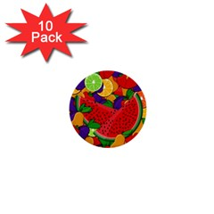 Summer fruits 1  Mini Buttons (10 pack)