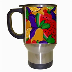 Summer fruits Travel Mugs (White)