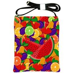 Summer fruits Shoulder Sling Bags