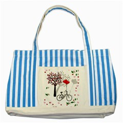 Love design Striped Blue Tote Bag