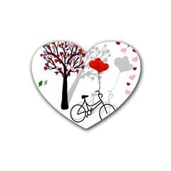 Love design Rubber Coaster (Heart)