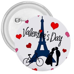 Valentine s Day   Paris 3  Buttons