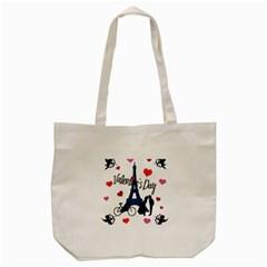 Valentine s day - Paris Tote Bag (Cream)