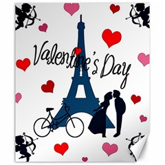 Valentine s day - Paris Canvas 20  x 24