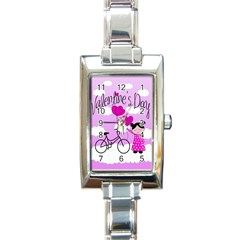 Pink daydream  Rectangle Italian Charm Watch
