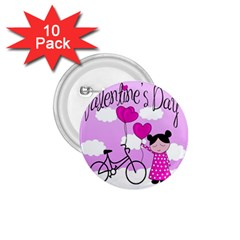 Pink daydream  1.75  Buttons (10 pack)