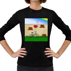 Secret love Women s Long Sleeve Dark T-Shirts