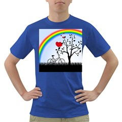 Love Hill - rainbow Dark T-Shirt
