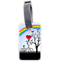Love Hill - rainbow Luggage Tags (One Side)