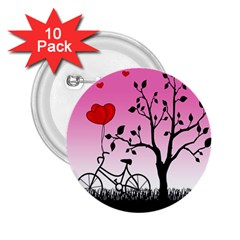 Love sunrise 2.25  Buttons (10 pack)