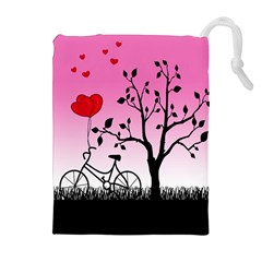 Love sunrise Drawstring Pouches (Extra Large)