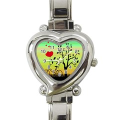 Love sunrise Heart Italian Charm Watch