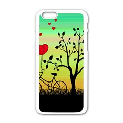 Love Sunrise Apple Iphone 6/6s White Enamel Case