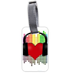 Music Luggage Tags (One Side)