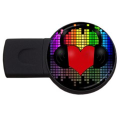 Love Music USB Flash Drive Round (2 GB)