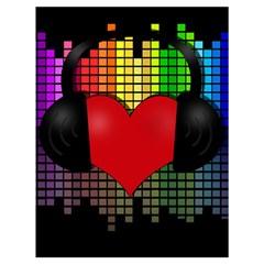 Love Music Drawstring Bag (Large)