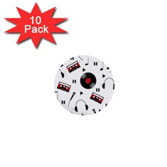 Music pattern 1  Mini Buttons (10 pack)