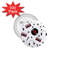 Music pattern 1.75  Buttons (100 pack)