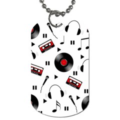 Music pattern Dog Tag (Two Sides)