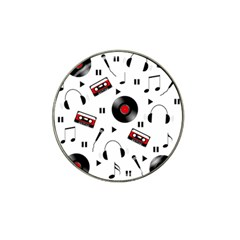 Music pattern Hat Clip Ball Marker (4 pack)