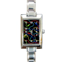 Audio cables  Rectangle Italian Charm Watch