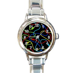 Audio cables  Round Italian Charm Watch