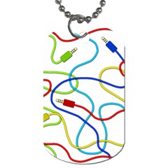 Colorful audio cables Dog Tag (Two Sides)
