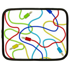 Colorful audio cables Netbook Case (XXL)