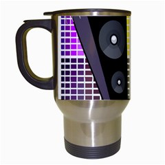 Loudspeakers - transparent Travel Mugs (White)