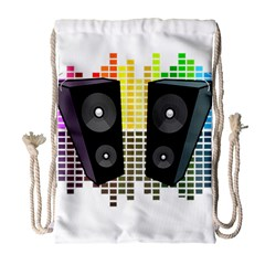 Loudspeakers - transparent Drawstring Bag (Large)