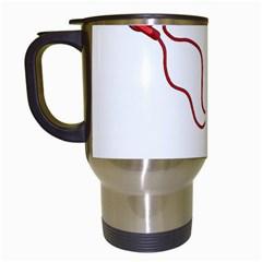 Earphones  Travel Mugs (White)