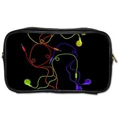 Colorful earphones Toiletries Bags 2-Side