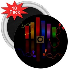 Energy of the sound 3  Magnets (10 pack)