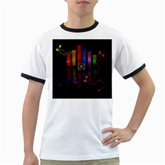 Energy of the sound Ringer T-Shirts