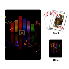 Energy of the sound Playing Card
