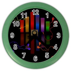 Energy of the sound Color Wall Clocks