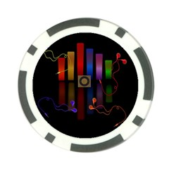 Energy of the sound Poker Chip Card Guard