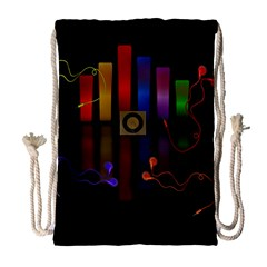 Energy of the sound Drawstring Bag (Large)