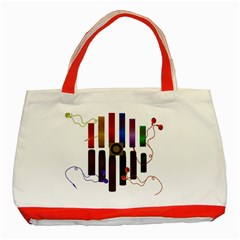 Energy of the sound Classic Tote Bag (Red)