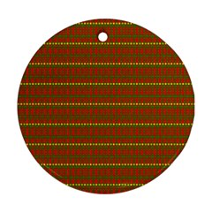Fugly Christmas Xmas Pattern Ornament (Round)