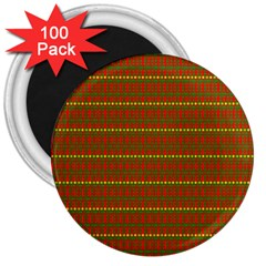 Fugly Christmas Xmas Pattern 3  Magnets (100 pack)