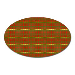Fugly Christmas Xmas Pattern Oval Magnet